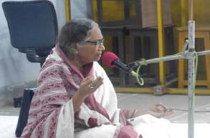 Vidushi Ashoka Dhar Nandy during her Dhrupad recital
